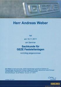 Geze website